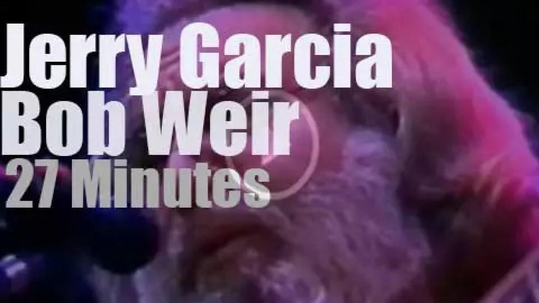 Jerry Garcia & Bob Weir  perform for a school (1988)