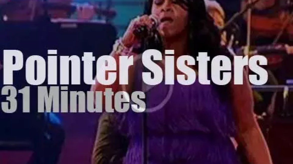 On TV today, The Pointer Sisters at 'MAX proms' (2012)