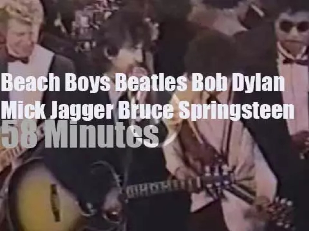 Bruce inducts Bob, Elton inducts The Beach Boys & Mick inducts The Beatles (1988)