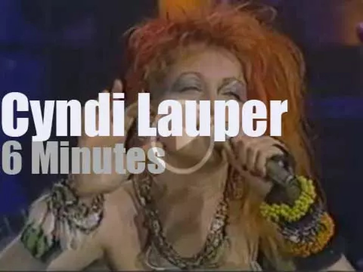 On TV today, Cyndi Lauper with Johnny Carson (1984)