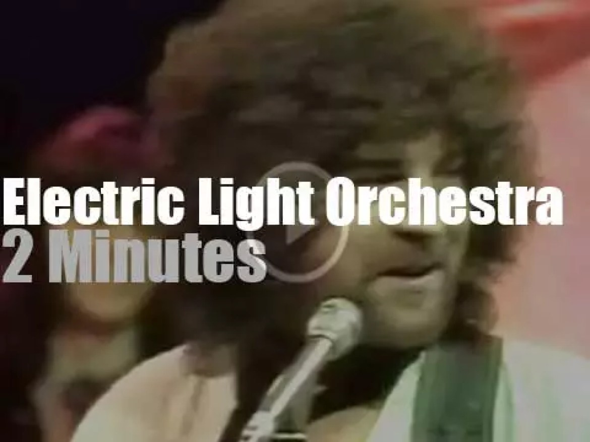 On TV today, ELO at 'TOTP' (1976)