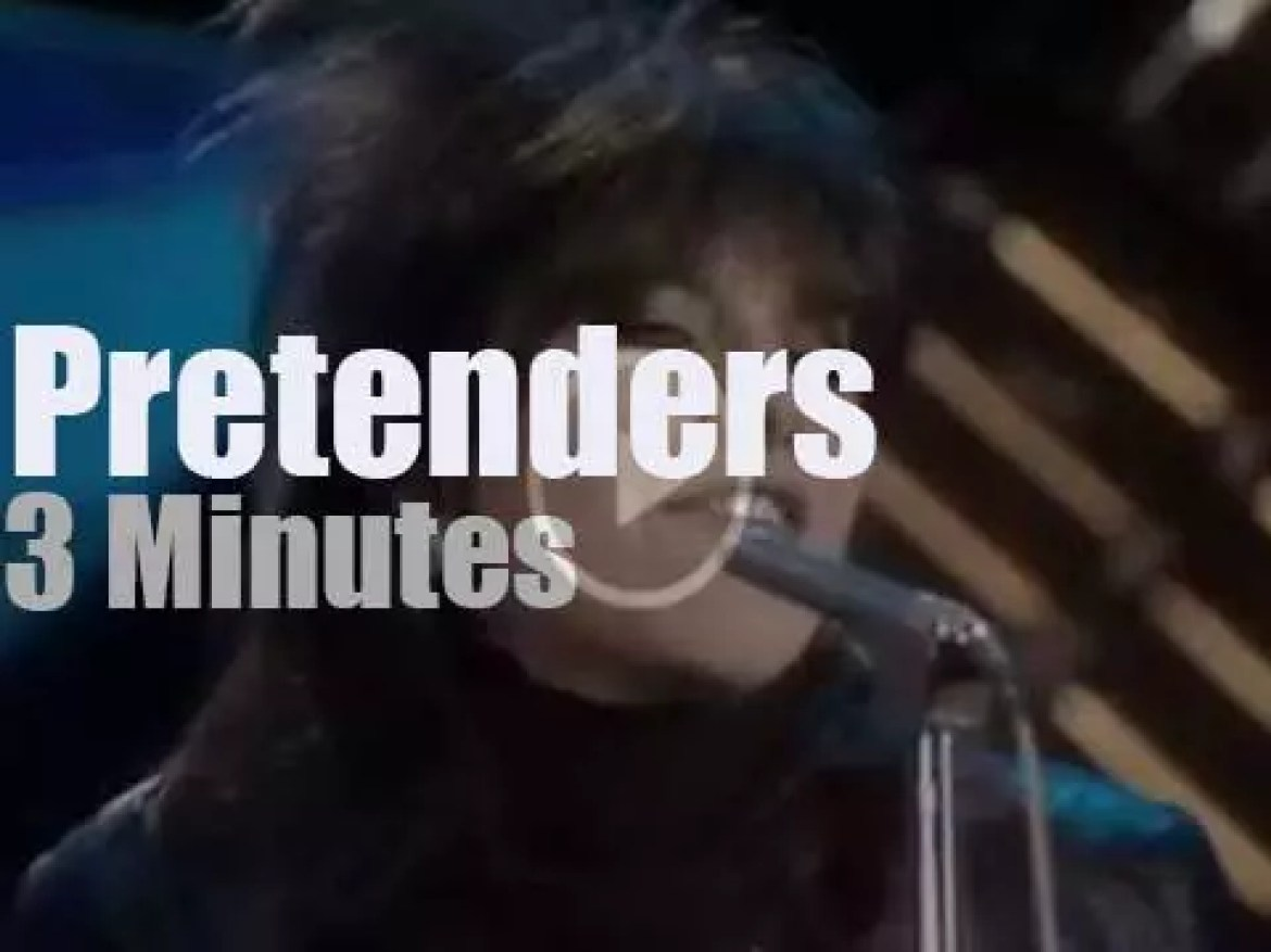 On TV today, The Pretenders at 'TOTP' (1979)