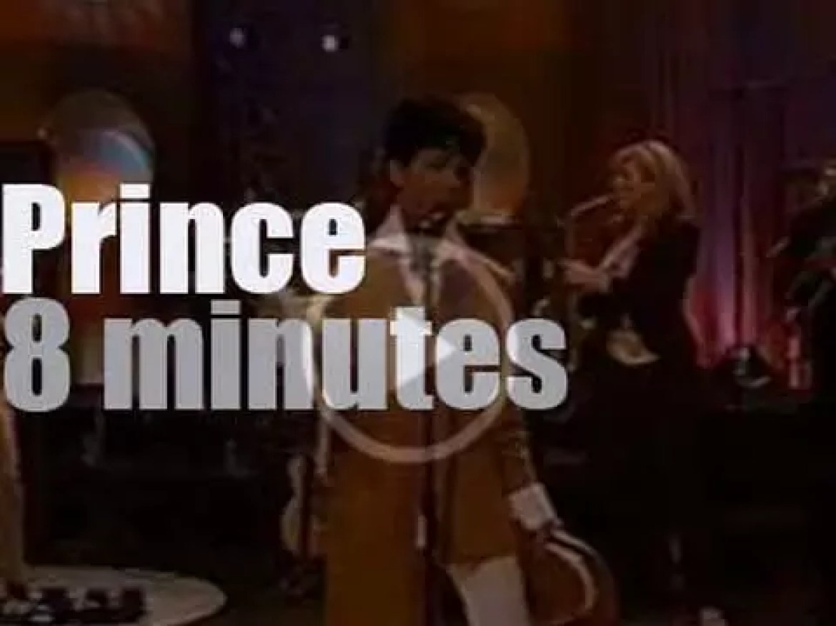 On TV today, Prince promotes his next tour at 'Jay Leno' (2004)