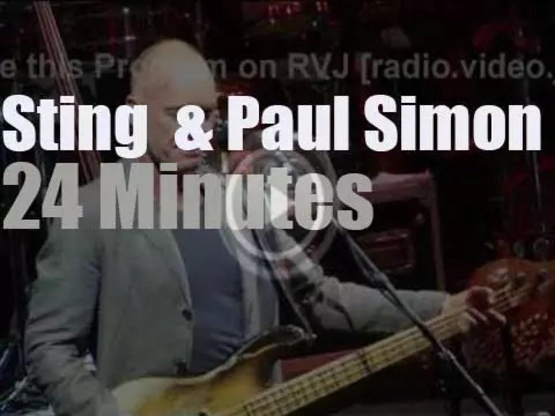 Sting  & Paul Simon team up in Houston (2014)