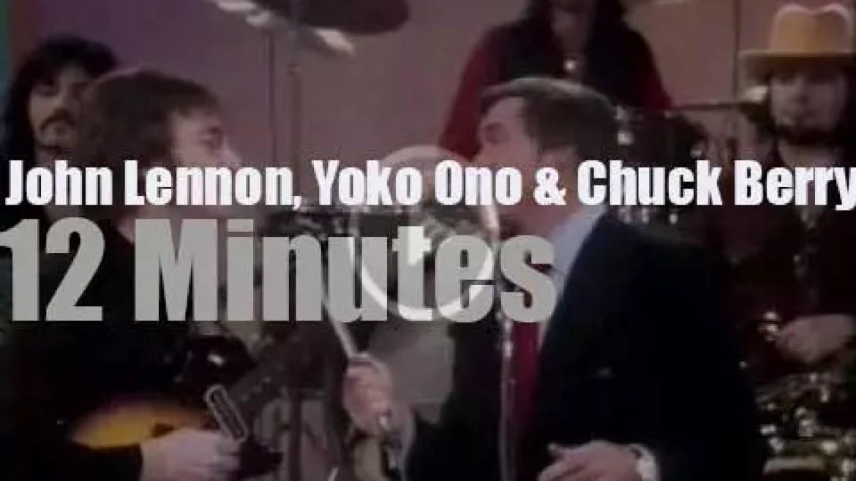 On TV today, John Lennon meets Chuck Berry (1972)