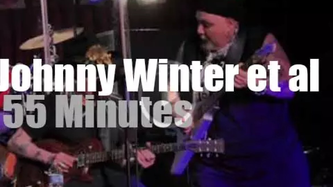 They all celebrate Johnny Winter 's 70th birthday at B.B. King Blues Club in NYC (2014)
