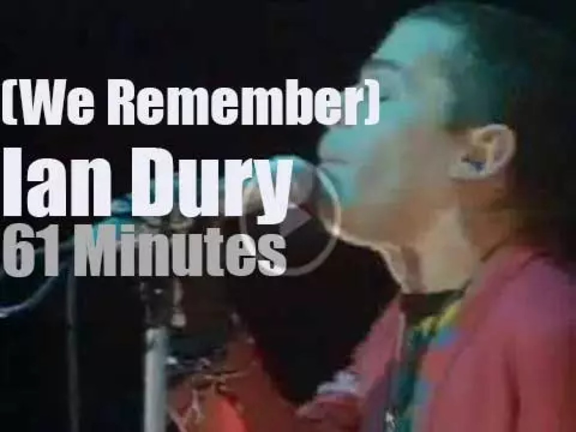 We remember Ian Dury (and his Rhythm Stick)
