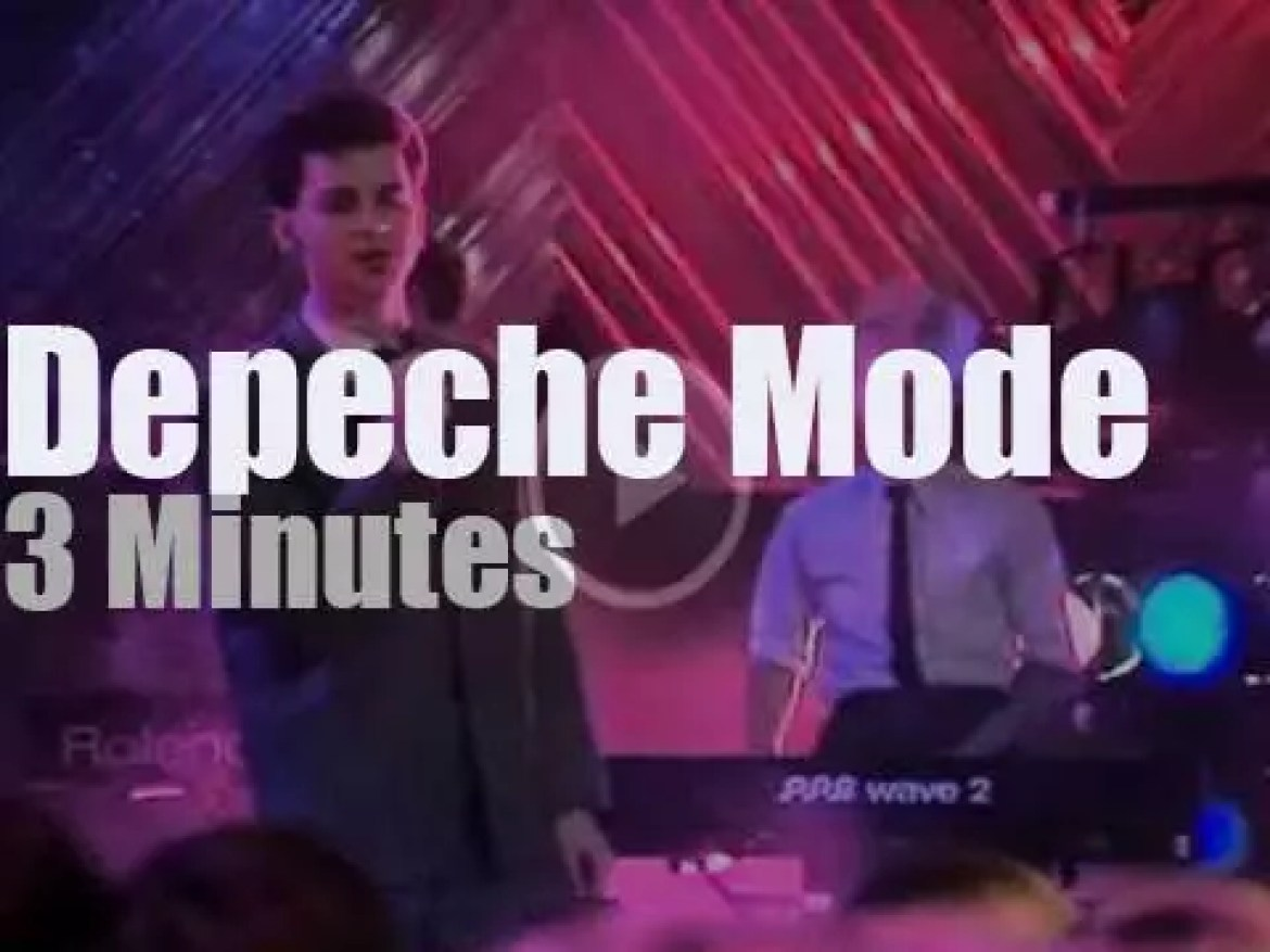 On TV today, Depeche Mode at 'TOTP' (1982)