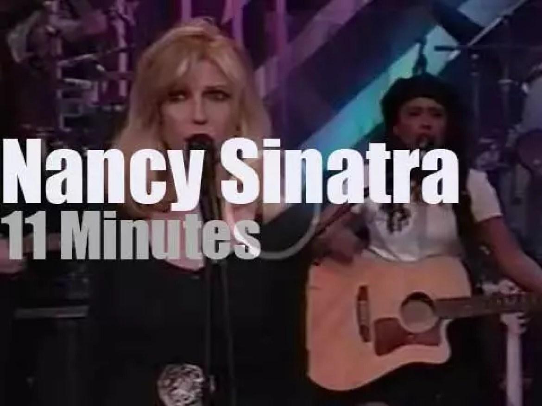 On TV today, Nancy Sinatra with Jay Leno (1995)