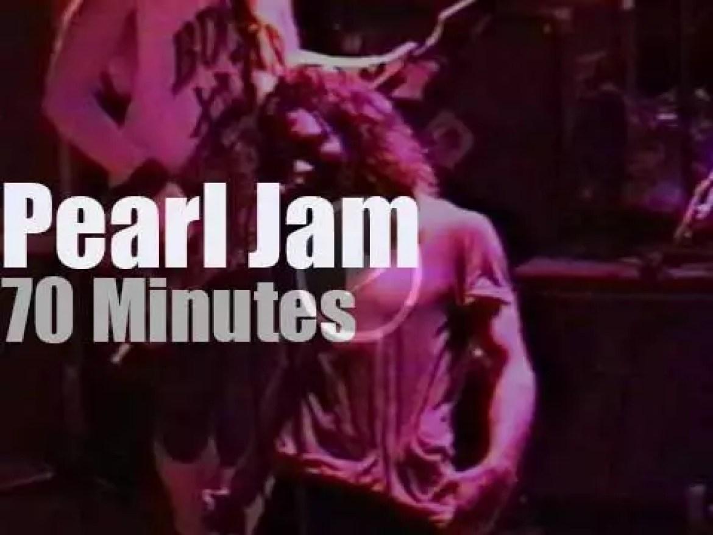 Upcoming band Pearl Jam rock Milwaukee, WI  (1992)