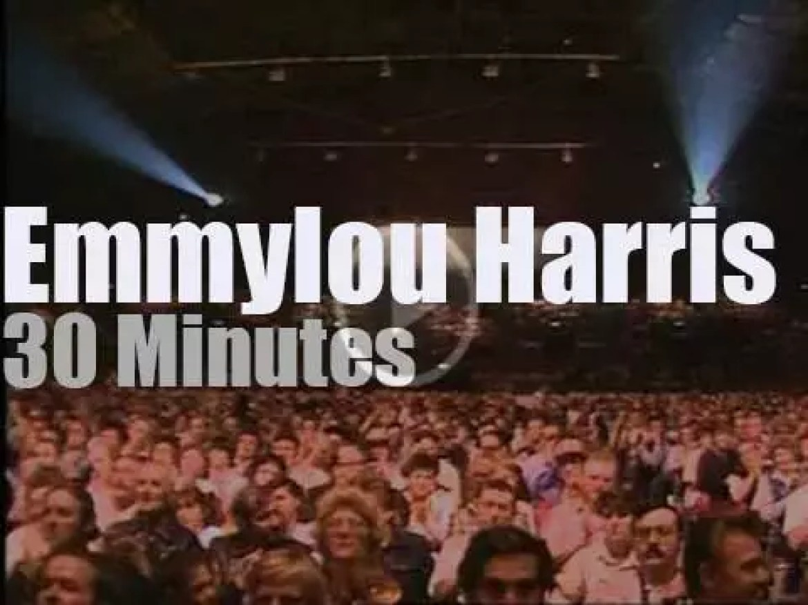 On English TV today, Emmylou Harris at 'BBC Sing Country' (1984)