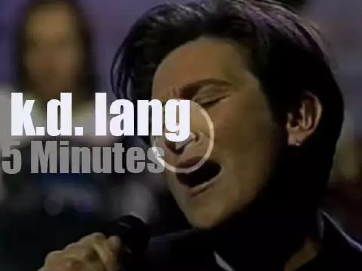On TV today,  k.d. lang with David Letterman (1992)