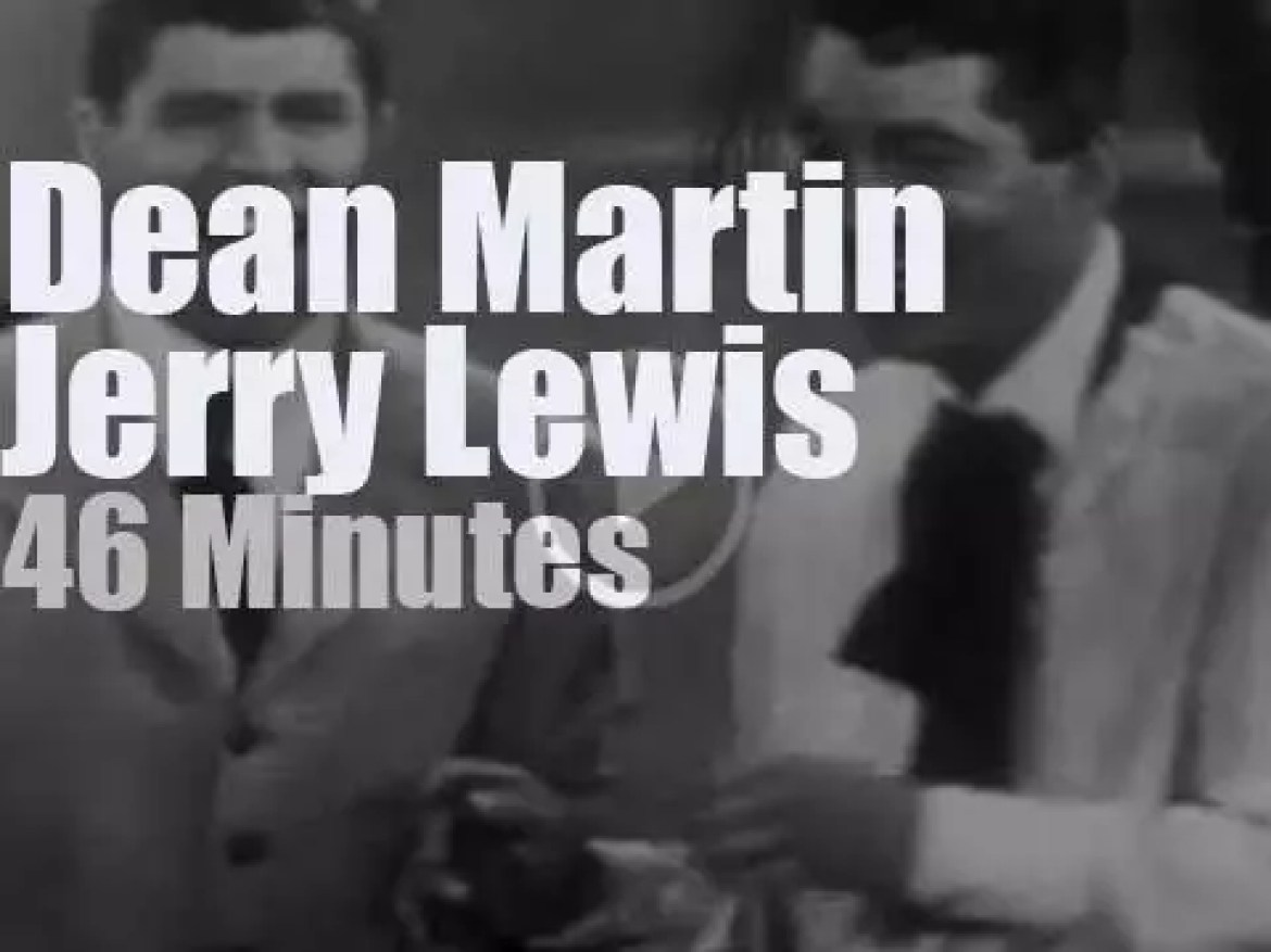 On TV today, Dean Martin & Jerry Lewis at 'The Colgate Comedy Hour' (1951)