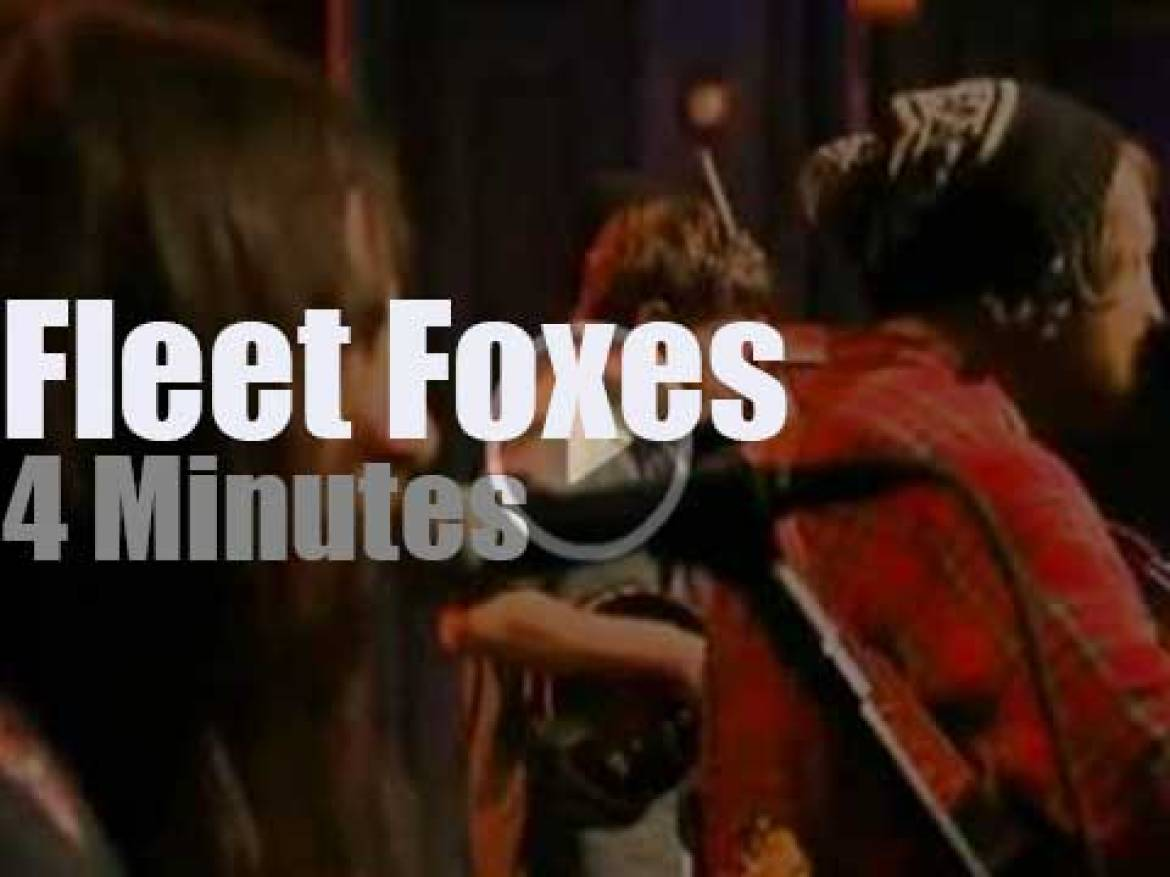 On TV today, the Fleet Foxes with Jimmy Fallon (2011)