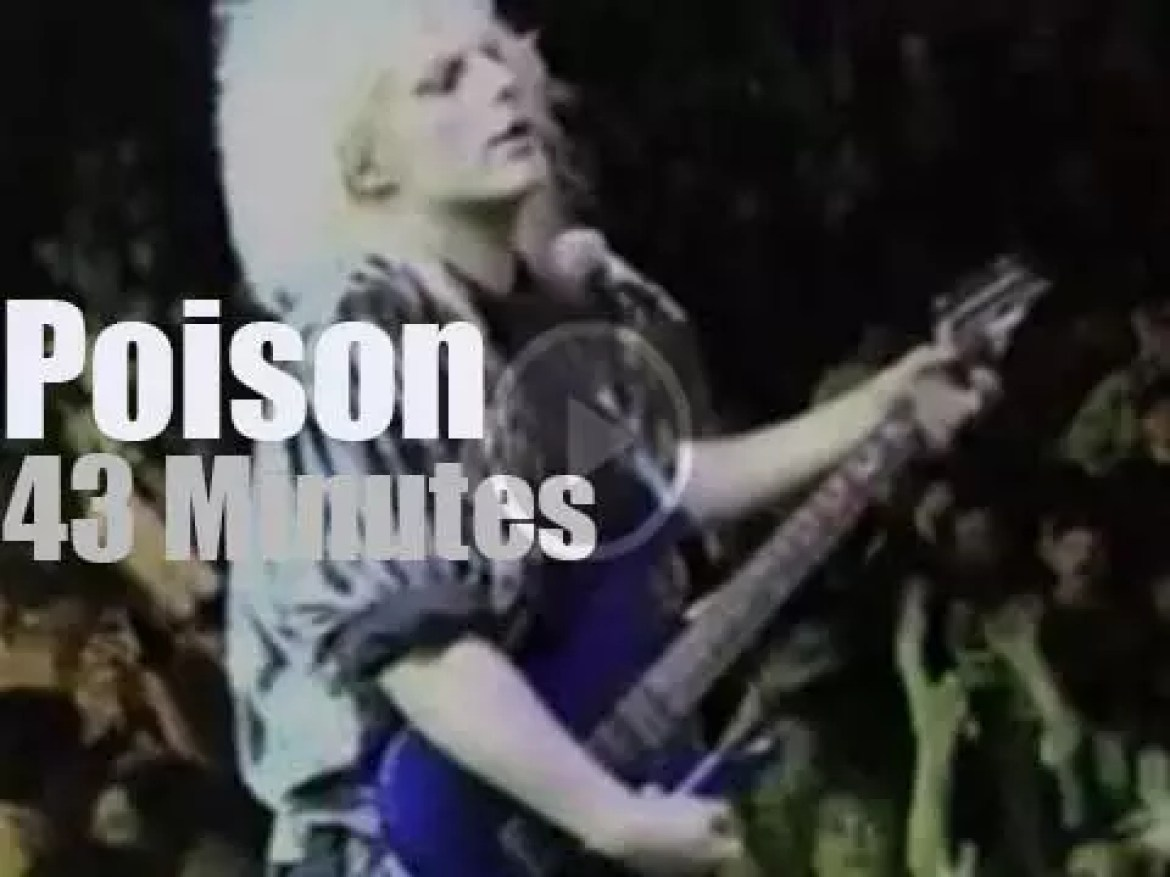 On TV today, Poison, Slaughter et al on ABC (1991)