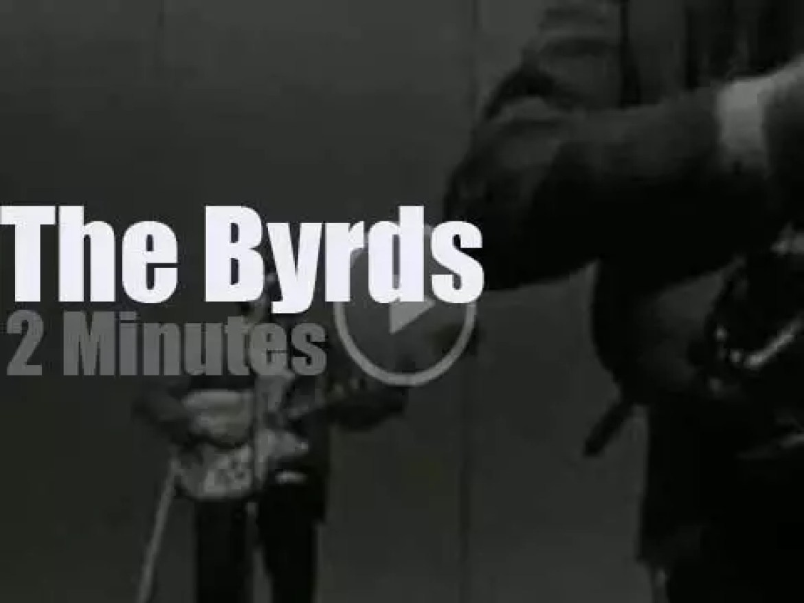 On TV today, The Byrds at 'Shindig!' (1965)