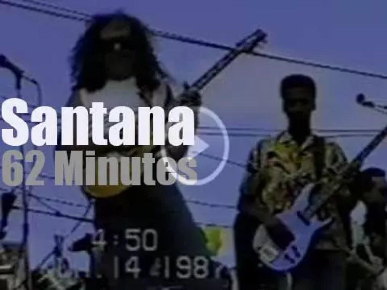 Santana play outside in San Francisco (1987)