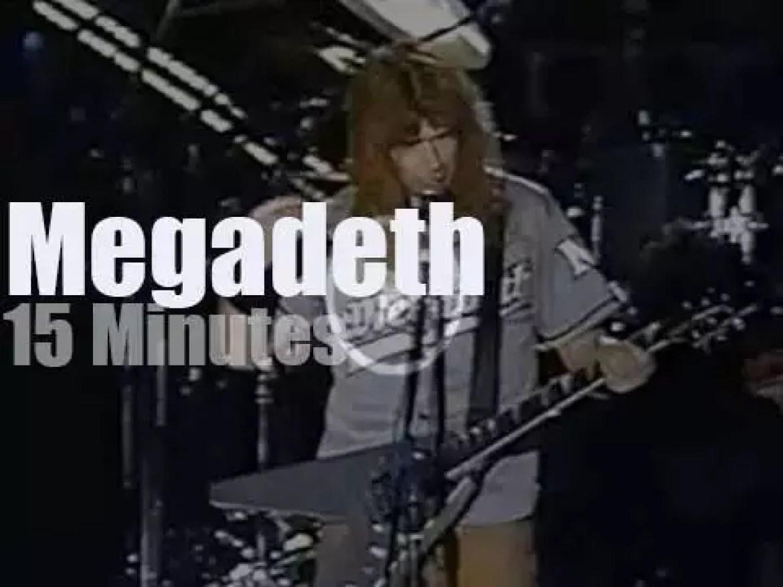 Megadeth serenade South Korean festival goers (2001)