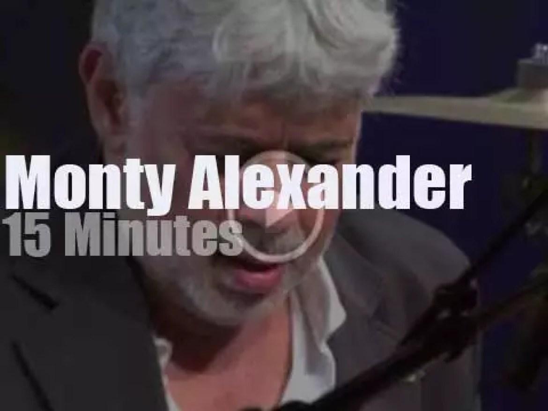 Monty Alexander is at 'Jazz in Marciac' (2009)