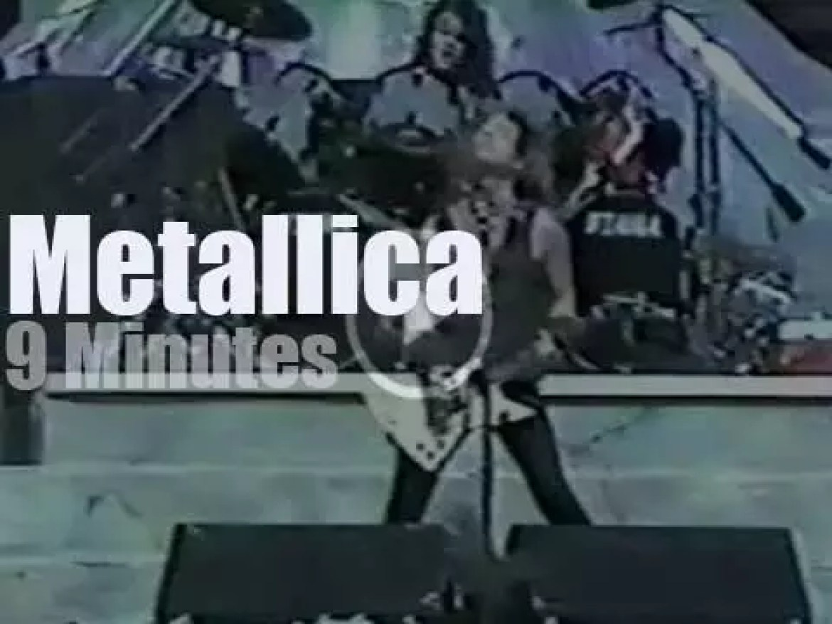 On TV today, Metallica live from Los Angeles (1988)