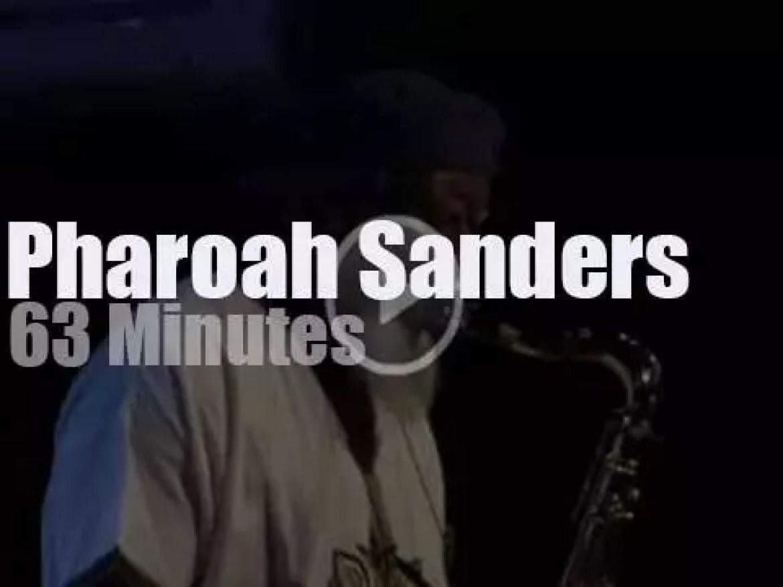 Pharoah Sanders goes clubbing in Paris (2016)