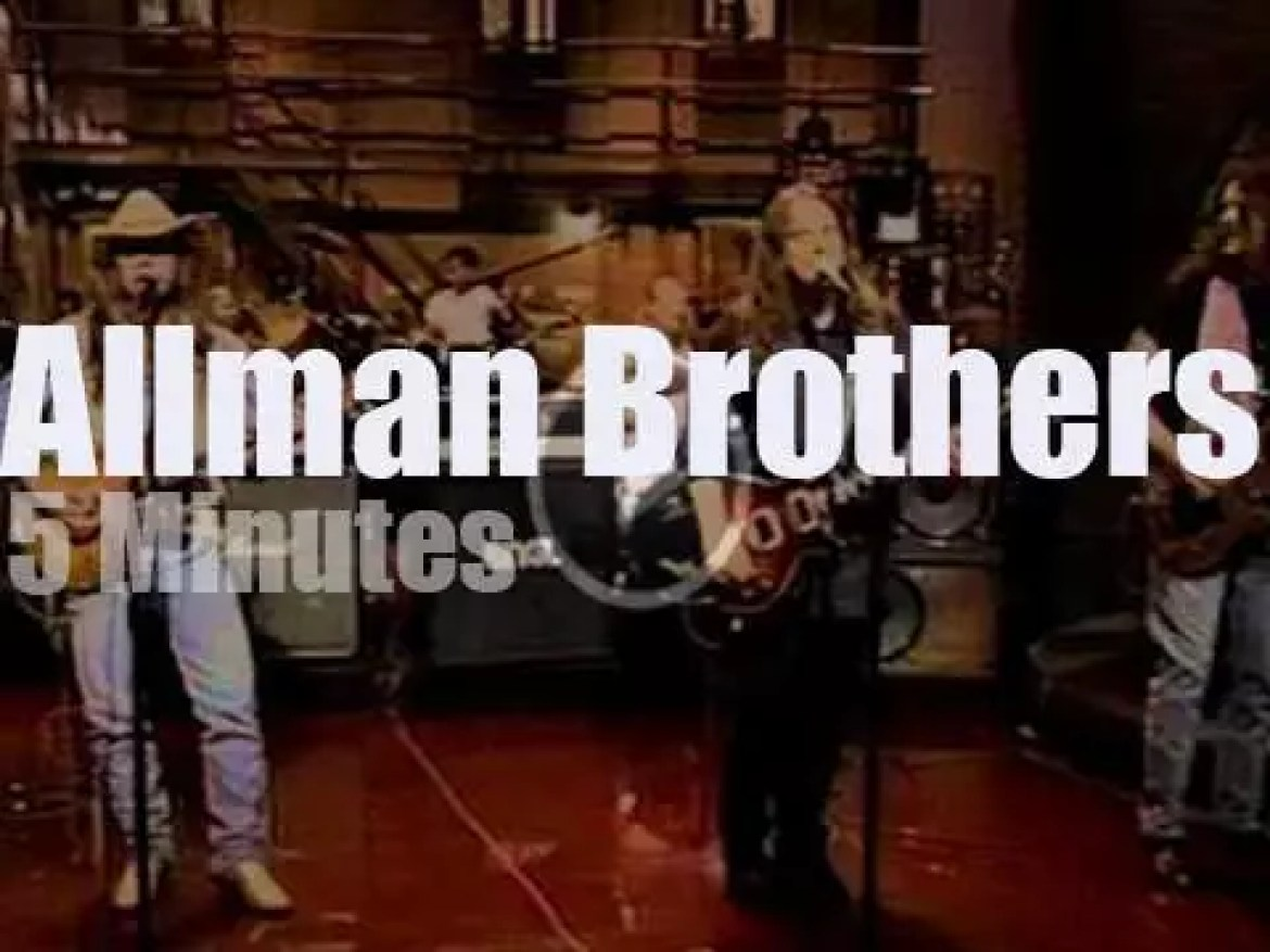 On TV today, Allman Brothers with David Letterman (1994)
