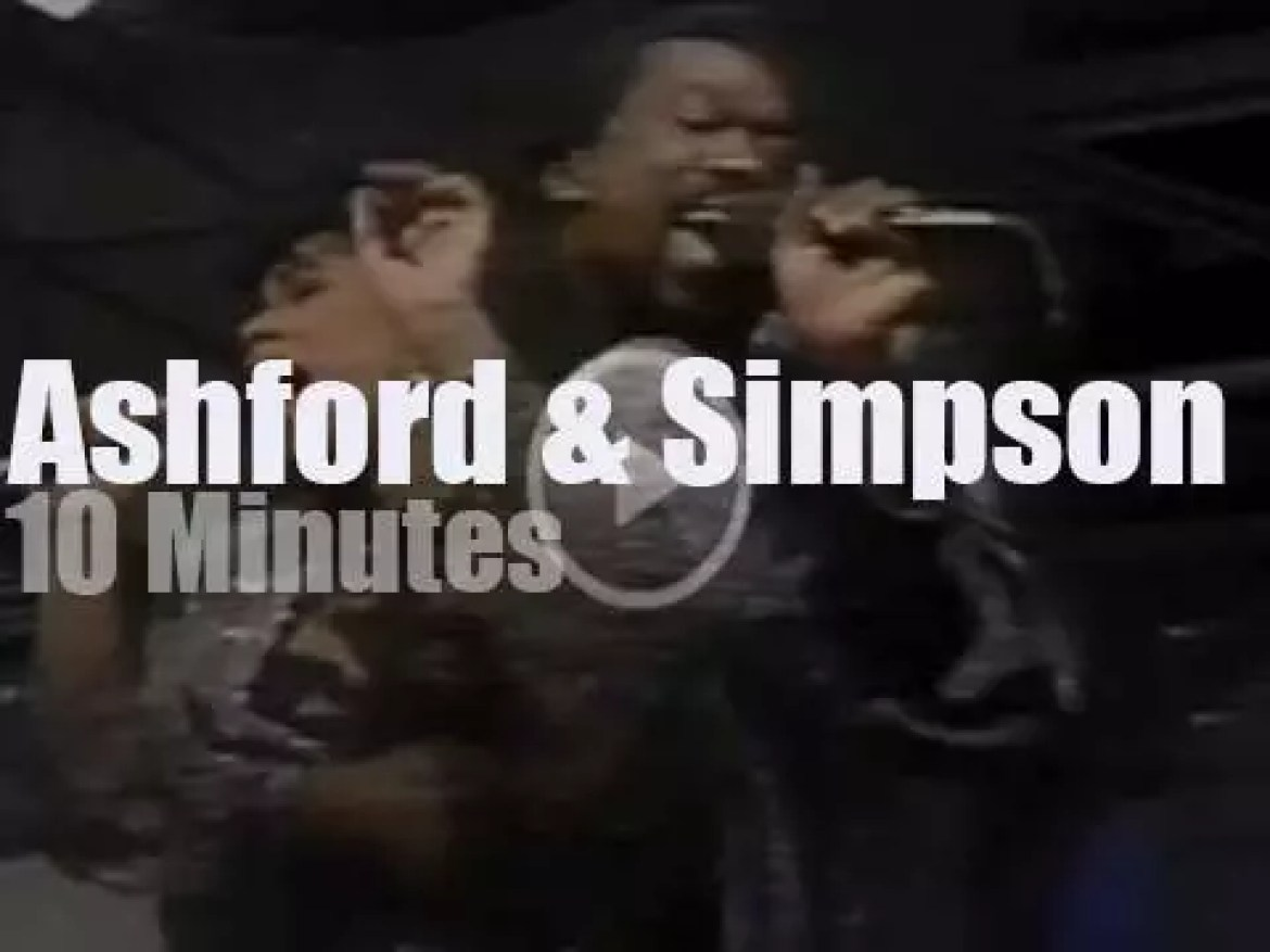 On TV today, Ashford & Simpson  with David Letterman (1986)