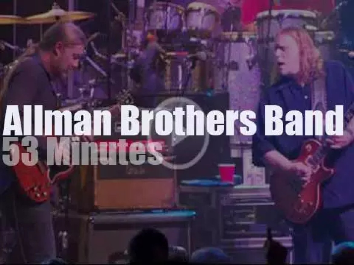 The Allman Brothers Band spend two nights in Chicago (2013)