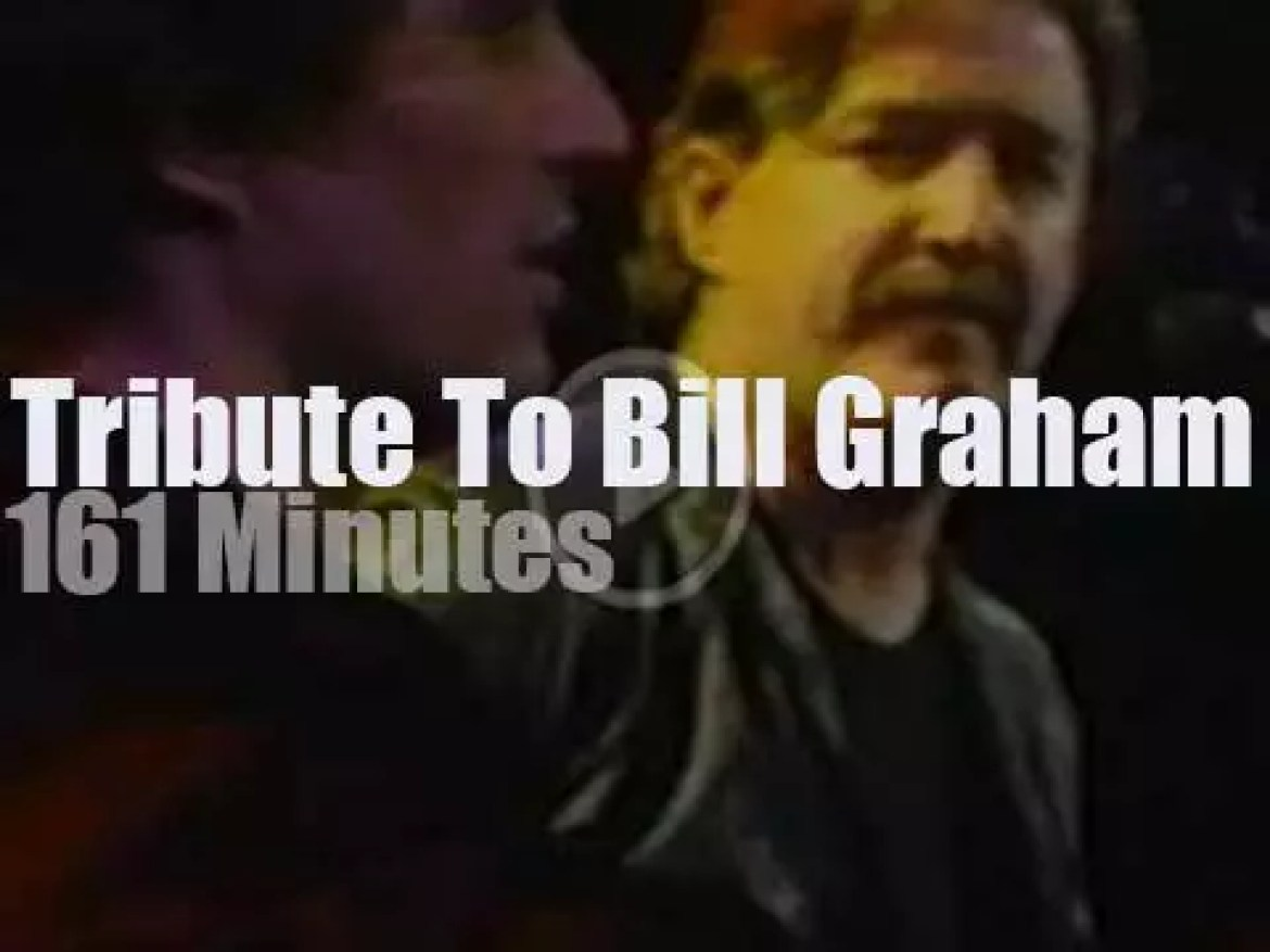 Carlos, Jerry, Robin, Francis et al pay tribute to Bill Graham (1984)