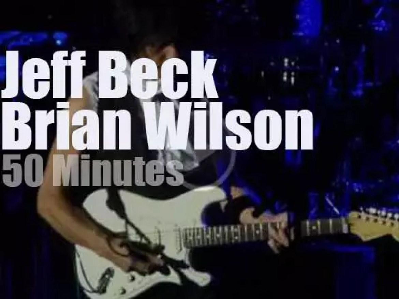Jeff Beck plays then Brian Wilson walks in (2013)