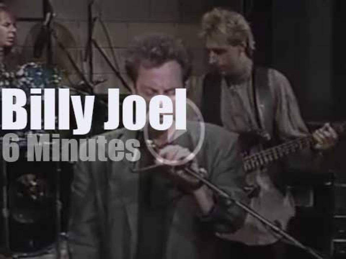 On TV today, Billy Joel  with David Letterman (1986)