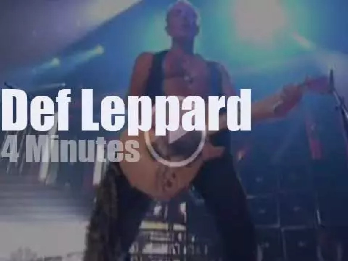 On TV today,  Def Leppard at 'America's Got Talent Finale' (2011)