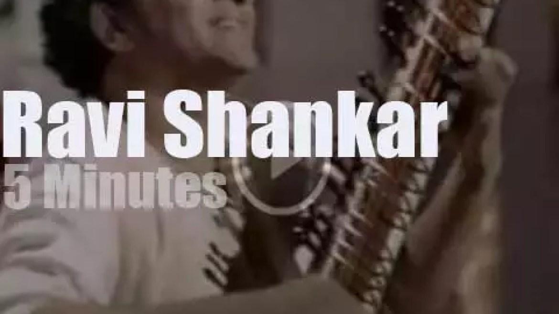 On TV today, Ravi Shankar at 'Hollywood Palace' (1967)