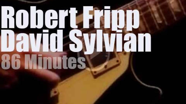 David Sylvian meets Robert Fripp in Tokyo (1993)