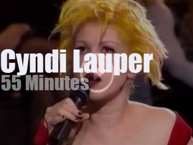 On French TV today,  Cyndi Lauper  at 'Taratata' (1994)