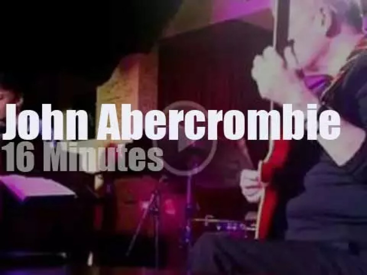 John Abercrombie plays in Bologna (2014)