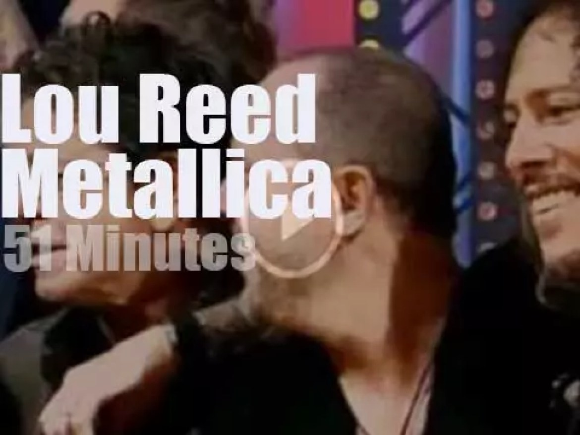 Lou Reed sits in with Metallica (2011)