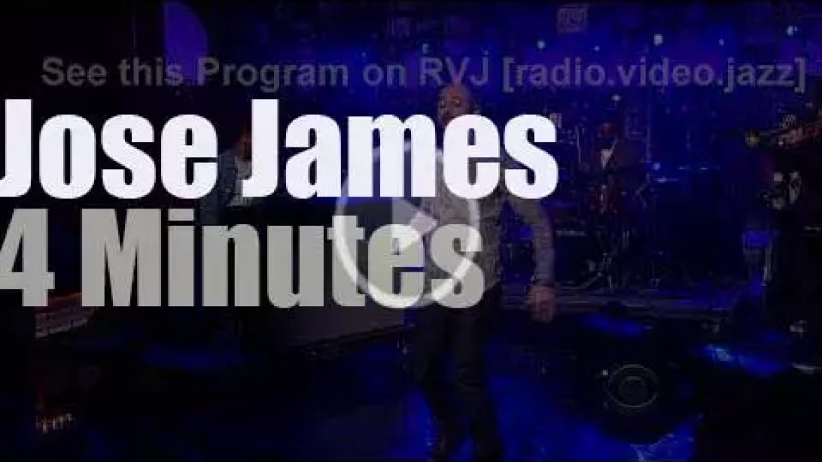 On TV today, Jose James with David Letterman (2013)