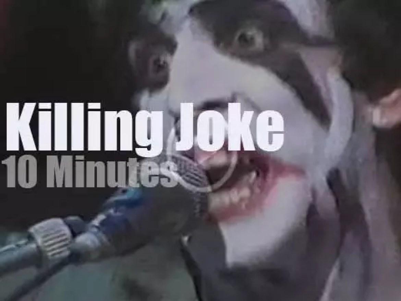 On English TV today, Killing Joke at 'The Tube'  (1983)