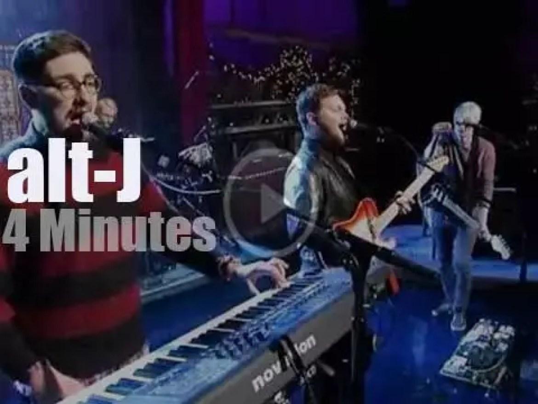 On TV today, Alt-J with David Letterman (2013)