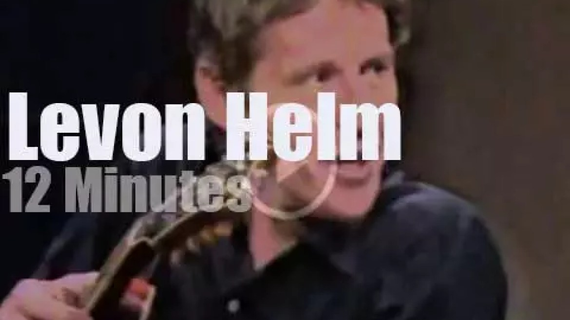 On TV today, Levon Helm with David Letterman (1983)