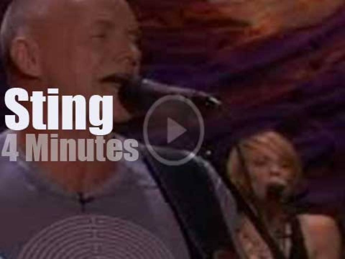 On TV today, Sting  with Ellen (2003)