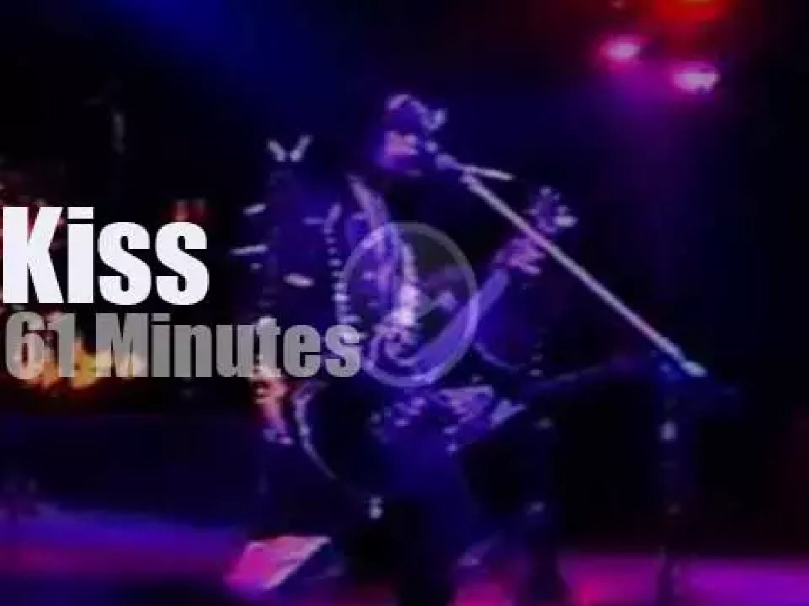 Kiss serenade Detroit (1976)