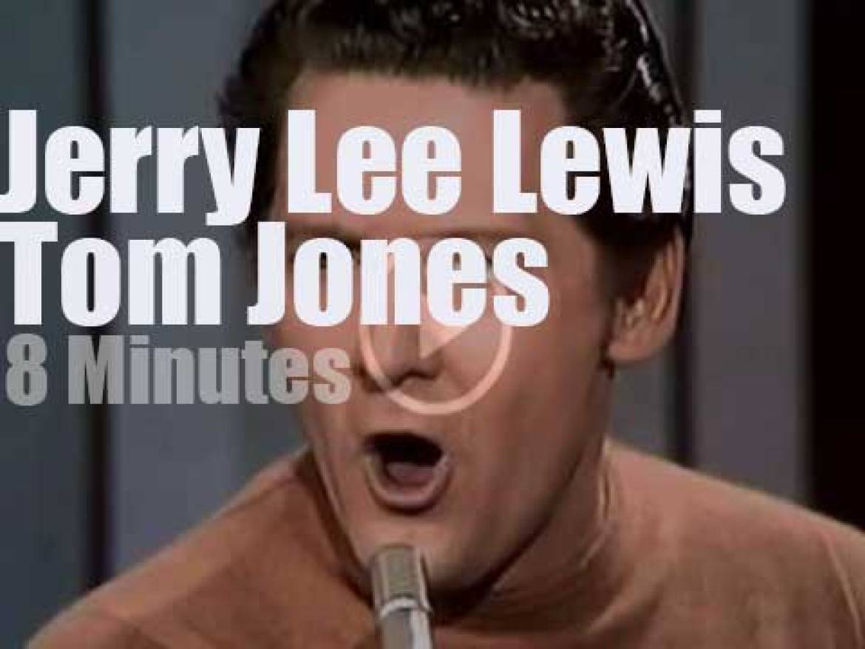 On TV today, Tom Jones rocks with Jerry Lee Lewis (1969)