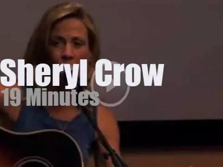 On radio today, Sheryl Crow at 95.5 KWNR in Las Vegas (2013)