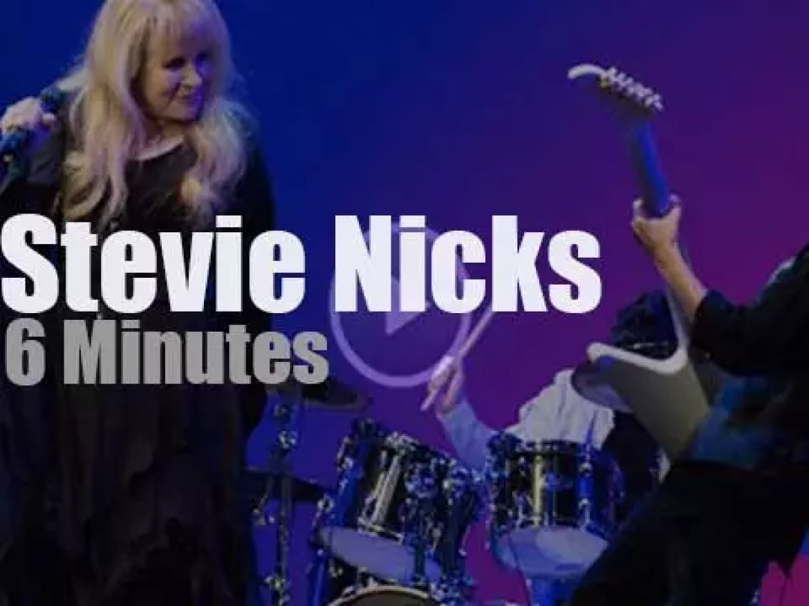 Stevie Nicks sits in with a kids band (2016)