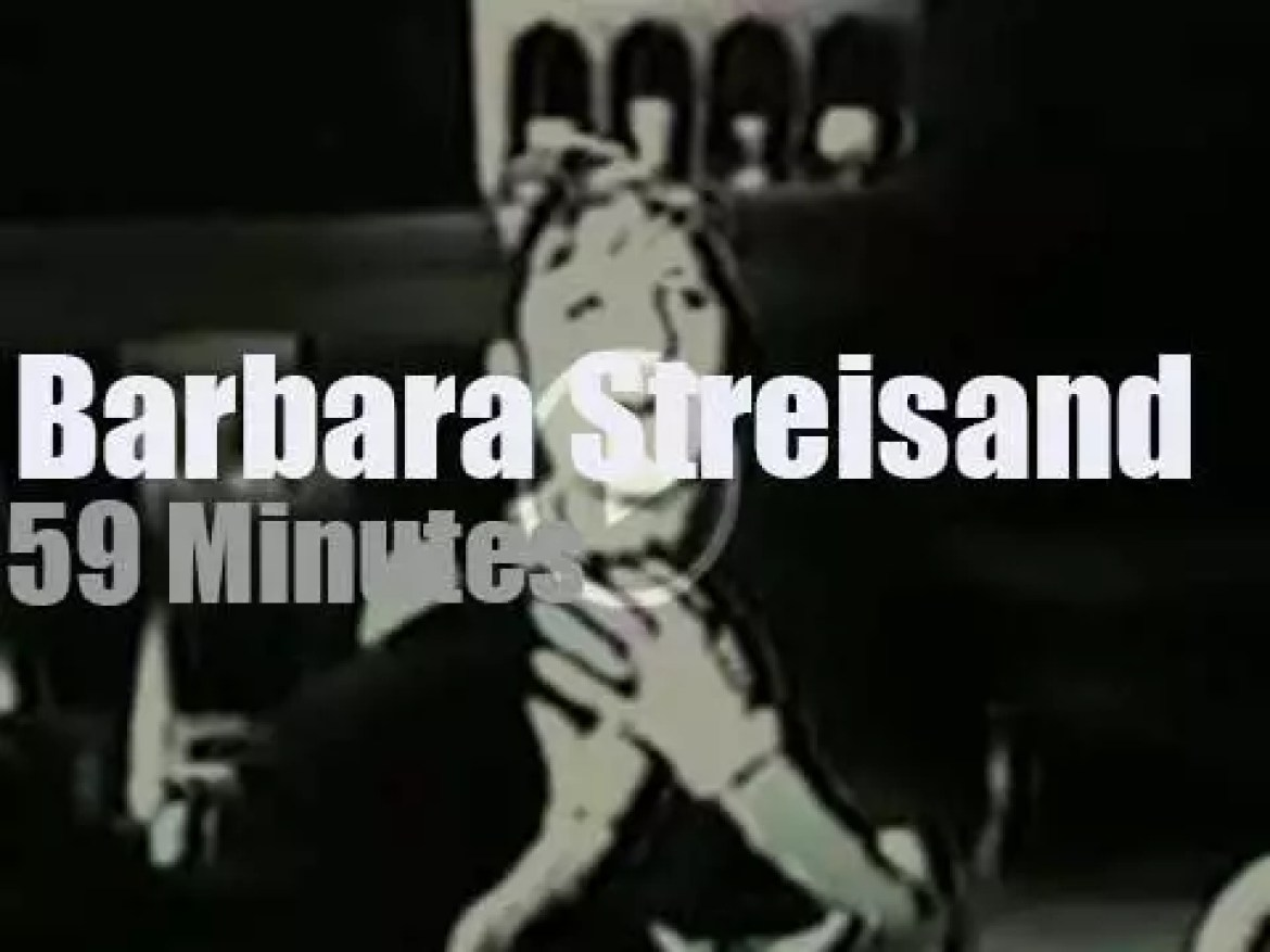 On TV today, Barbara Streisand at 'The Garry Moore Show' (1962)