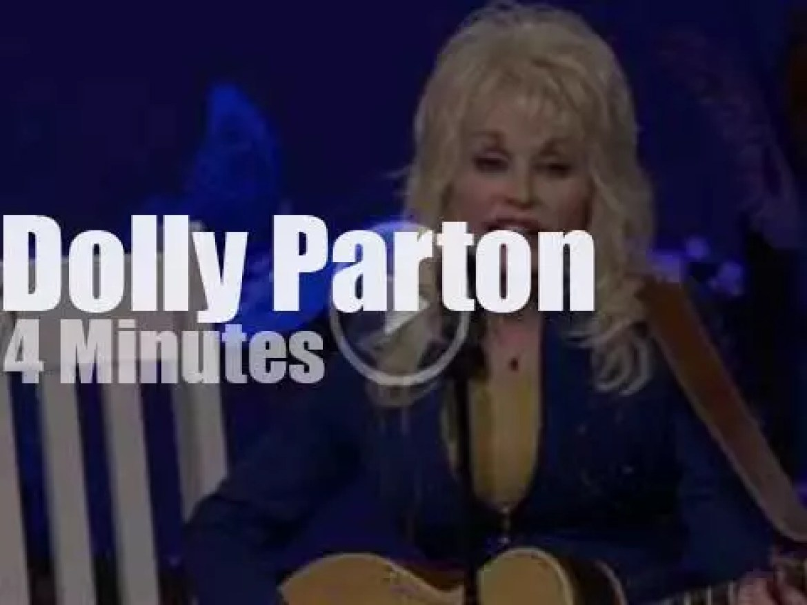 On TV today, Dolly Parton sings a new song (2016)