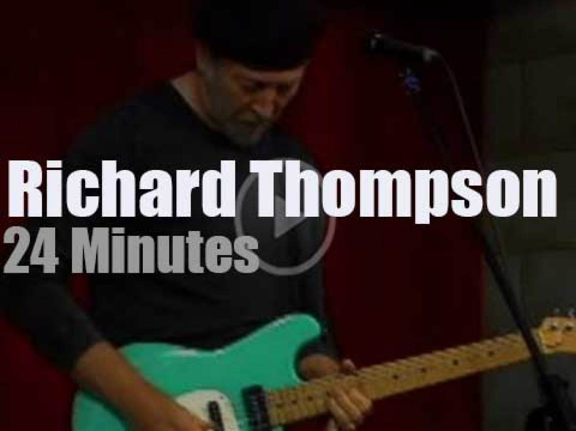 Richard Thompson plays at a record store (2007)