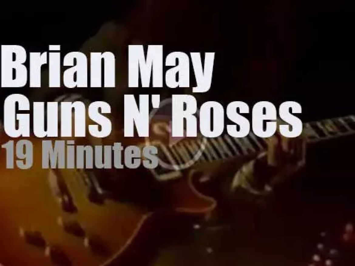 Brian May sits in with Guns N' Roses (1992)